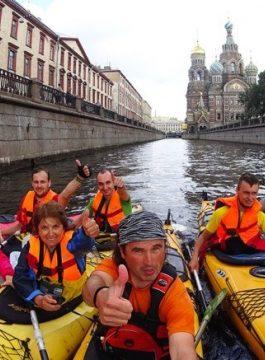 ST Petersburg kayakken - Als Groep Op Reis