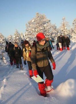 Snowshoeing - Als Groep Op Reis